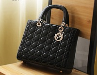 Free Shipping!!!  2013 New Arrival Woman Vintage Work Casual PU Handbag, fashion  Cute Zip Tote #w00001