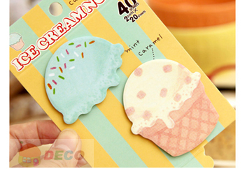 Fresh look and cute cartoon Ice cream design sticker,notebook sticker,memo pad,Paper notepad,Wholesale (SS-4980)(China (Mainland))