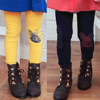 Free drop shipping 2012 winter rabbit girls clothing thickening plus velvet trousers legging kz-1269