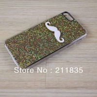 New Hot bling LEON Chaplin Sexy 3D Beard Mustache Hard Back Case Cover For Apple iPhone 5