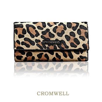Cromwell cowhide genuine leather wallet female long design three fold wallet multi card holder wallet