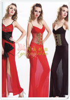 Sexy one-piece formal  full  perspective sexy evening dress long slim fashion uniforms design