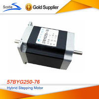 Free shipping ! Nema23 Hybrid Stepping Motor 1.5Nm 1.8Degree 3.0A Dual Shaft Stepper Motor