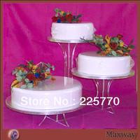3 Tiers acrylic wedding cake stand