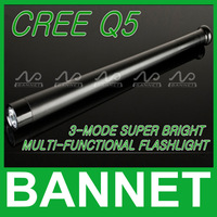 Free Shipping Multifunctional CREE Q5 Rechargeable LED Flashlight Aluminium alloy B90 Self-defense torch light