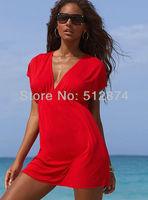 2013 New Women Sexy Nylon Swimwear Dress Bikini Cover Up Beach dress Free shipping