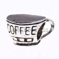 Free Shipping fashion 10PCs/Lot Approx 5mm coffee cup shape Zinc Alloy European Beads 2013 new jewelry DIY making accessories