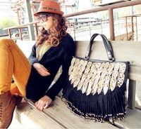 Free Shipping!!!   Woman Vintage Work Casual Leopard Messenger bag, fashion clinch bolt Tote #w00003