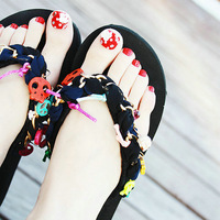 2012 color block the trend of summer sandals flip flops shoes female t platform sandals