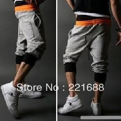 Free Shipping 2013 new men's casual pants cotton shorts Cropped sweat pants fashion men's shorts Size:S-XXL(China (Mainland))