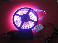 Bundle 12v smd led strip decoration lights with waterproof 60 5050 colorful lights controller power supply