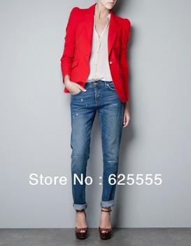Hot Sale, 2013 LML International Women Suit Blazers, Tunic One Button Coat, S M L, EU Style High Quality Candy Jacket