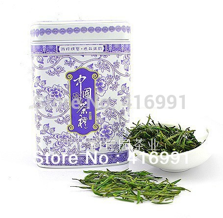 2013 Spring First Best Grade Rare Anji White Tea, Hand Made Green Tea. Anji Baicha 50g into Gift Can, Free Shipping!(China (Mainland))