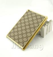 Luxury Retro Grid Unique Cross Stitch Leather Hard Back Case Cover For 7.9'' New Apple ipad Mini Tablet Case Skin P363
