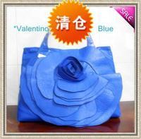 FREE SHIPPING! Fashion women's handbag bag blue flower series bags fashionable casual one shoulder women's handbag