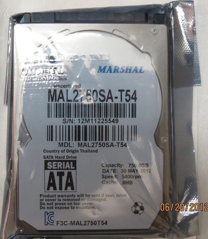 NEW Laptop hard disk 750GB SATA 2.5'' 5400rpm Notebook hard drive 7500GB FREE SHIPPING(China (Mainland))