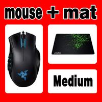 Original Razer Naga Gaming Mouse + Orignal Razer Goliathus Medium size, Free & Fast Shipping