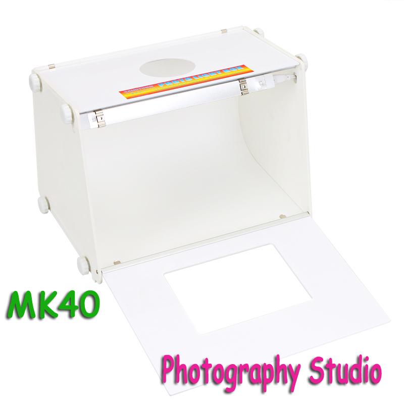 "SANOTO 16""x12"" Portable Mini Kit Photo Photography Studio Light Box Softbox MK40 size 410 * 300 * 290mm DHL free shipping(China (Mainland))"
