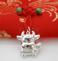 Sterling Silver Jewelry Jewelry pure silver ox peace pendant amucks red string  Vintage 100% Silver Jewelry min mix wholesale