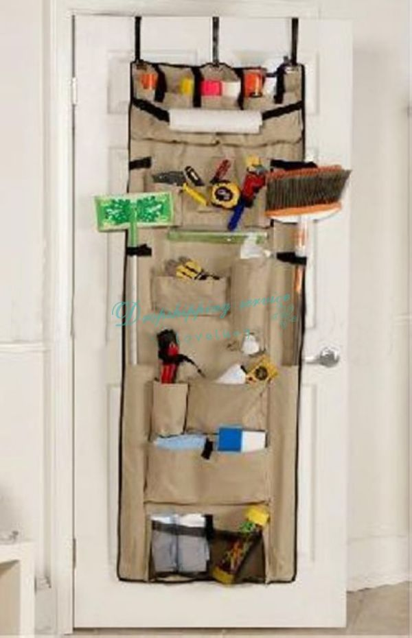 Adjustable Pockets Hanging Storage Bag Organizer Wall Over Door Holder With Hook DHL Wholesale(China (Mainland))