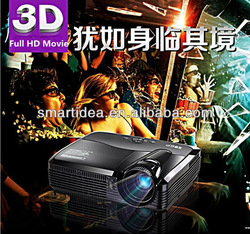 Free shipping !! 4000 ANSI lumens 1080P HD real 3D shutter portable dlp projector,3D glasses free gift(China (Mainland))