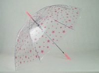 Free shipping&2013 little star  transparent umbrella &long-handled  child umbrella