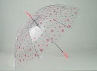 Free shipping&2014 little star  transparent umbrella &long-handled  child umbrella