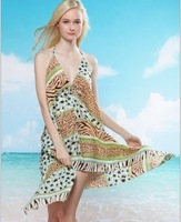 2013 New Women's Sarong Swim cover-ups  Beach dress  Summer  Bikini Blouse 30pcs Freeshipping