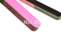 Sweet colorful Professional Nail Files Buffer Buffing Slim Crescent Grit Sandpaper nail beauty art tool wholesale