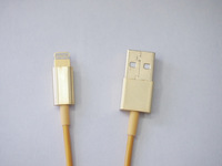 Charging & Data Transmission Cable for iPhone 5, iPod Touch 5, iPod Nano 7, iPad 4 1 meters (gold)