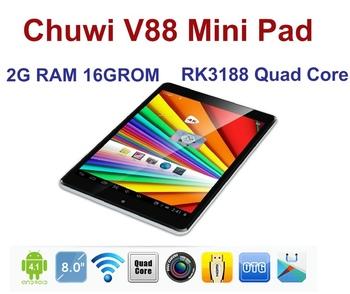 CHUWI V88 Mini pad Quad core Tablet PC RK3188 1.8Ghz IPS Screen 2GB RAM 16GB Dual Camera 5.0MP HDMI WIFI Bluetooth 3G External