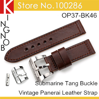 24mm Vintage America Real Alligator Watch Strap Watchband For Panerai Free Shipping(China (Mainland))