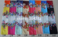 free shipping cotton Voile floral flower Scarf /Shawl long wrap popular 180*100cm 10pcs/lot