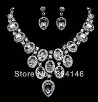Cheap!!! gorgeous crystal bridal jewelry sets fashion jewelry sets alloy wedding necklace sets accessory retail
