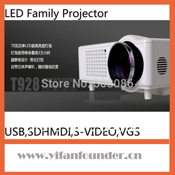 Mini LED projector Hight Definition 640*480,Digital Projector with TV/VGA/HDMI/USB/SD/AV interface for home theater projector(China (Mainland))