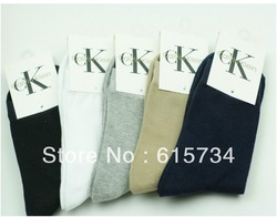 Size 30CM+ 40Pcs=20Pairs=1lot=9.99USD male socks man sports socks pure color cotton socks qiu dong warm socks wholesale(China (Mainland))