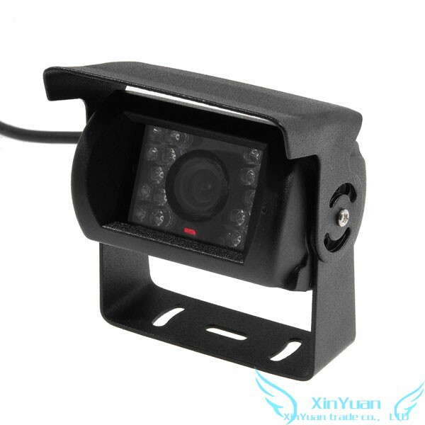 CMOS Color Rear View Vehicle/Truck Parking/Reversing 18-IR Night Vision Camera PAL+free shipping(China (Mainland))