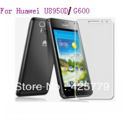 Free shipping  clear Screen Protector For Huawei U8950D Ascend G600,With Retail Package+10pcs/lot  High quality