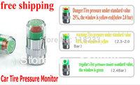 free shipping  2.4 bar 36PSI New car Tire Pressure Monitor Valve Stem Cap Sensor Indicator 3 Color Eye Alert