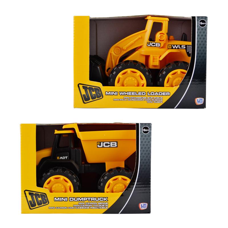 Jcb truck model bulldozer dump trucks plastic toy car boy gift(China (Mainland))