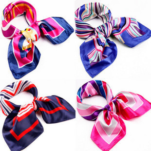 free shipping All-match magicaf silk scarf squareinto ol squareinto silk scarf small facecloth price promotion(China (Mainland))
