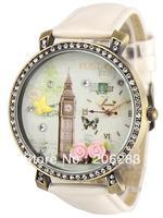 KR124 Kuori watch 3D London watch DIY Handmade Genuine Leather Quartz Ladies watch 1pc+free shipping