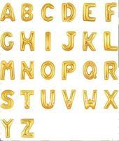 "10pcs/lot Big! Giant Alphabet Letter Gold A-Z Helium Mylar Balloon 40"", Party Decorations Auto Sealing Foil Balloon"