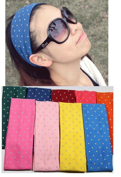 Free shipping wholesale 2013 new cute star elastic hair band Euro fashion sports yoga head band headwear hair jewelry(China (Mainland))