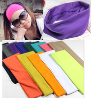 Free shipping wholesale 2013 new cute pure candy color elastic hair band Euro sports head band headwrap for women hair jewelry