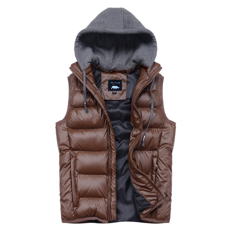Rhino 2013 spring cotton vest male detachable cap vest lovers kaross vest(China (Mainland))