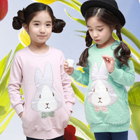 Children's clothing 2013 spring female child baby buck long-sleeve T-shirt buck sweatshirt u