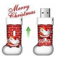 Free Shipping Christmas USB Flash Drive Gift Memory Stick