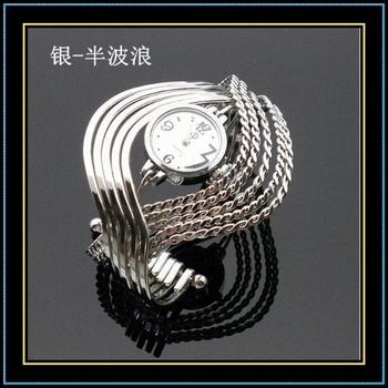 Fashion Wrist Watch Wave Bangle Watch Bracelet Hinged Stunning watches Retail sale Ramdon Shipment Free shipping X10