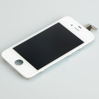 White LCD Display Touch Digitizer Glass Screen Assembly for iPhone 4S 4GS BA092